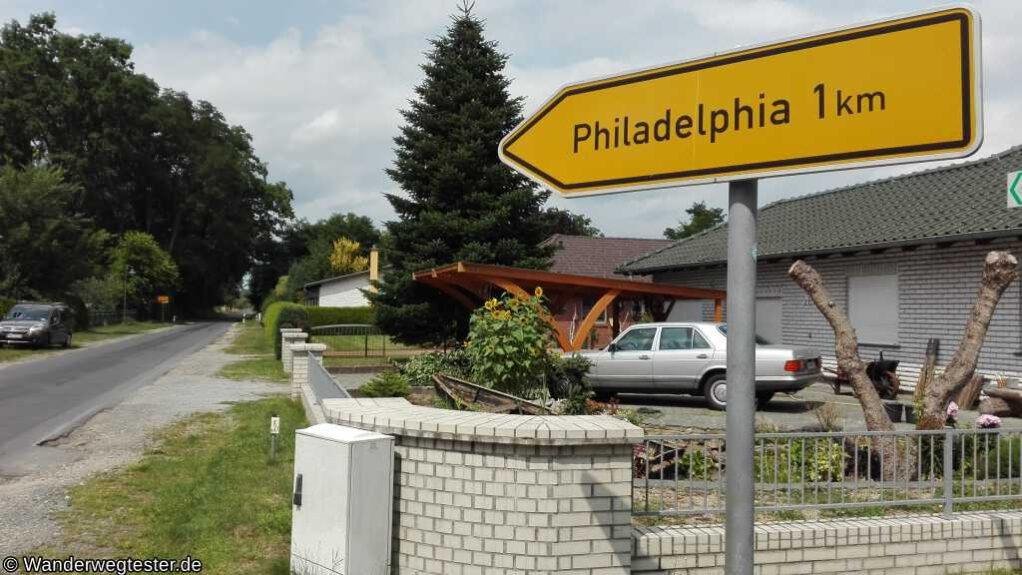 Wegweiser nach Philadelphia